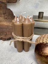 milky brownes Kerzenbundle
