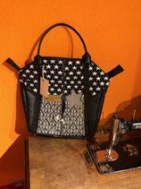 Handtasche gross schwarz, weiss
