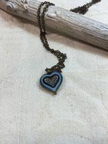 Herz Kette, Kette Herz, Valentigstags Geschenk, Geschenk, Kette blau, Brautjungfern