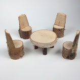 Sitzgruppe runder Tisch