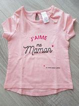 """Tee-shirt """"J'aime ma maman ... et mon papa aussi"""""""