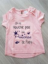 """Tee-shirt """"On ne touche pas à la princesse de papa"""""""