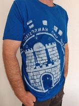 Herren T-Shirt blau/weiß
