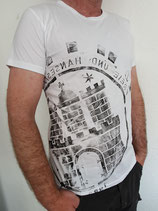 Herren T-Shirt weiß/schwarz