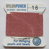 Nylon Power Dunkelrosa