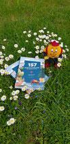 """Maskottchen Wandi mit Wanderbuch """"157 Erlebnis."""""""