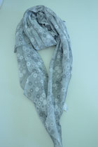 Schal aus Italien - Blumen - Kreise