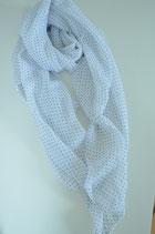Schal aus Italien mit weißen Punkten