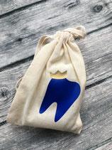 Milchzahnsäckli Blau/Krone