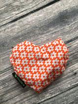 Chriesistei Herzli Klein Orange/Blumen