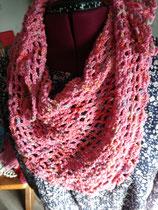 Gehaakte roze sjaal