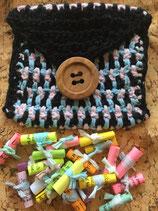 Kleine Häkeltasche mit 20 Weisheiten und Sprüchen