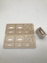 Servoeinbaurahmen stehend standart servo 41mm aus 2mm Flug sperholz (1Paar)