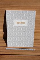 Notebook Muster Grau/Weiß