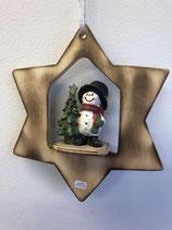 Schneemann mit Baum im Stern
