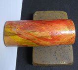 "Magnethalter ""Sunrise"", Haselnuss lackiert, L ca. 75mm, D ca. 30mm, Haltekraft ca. 280g"