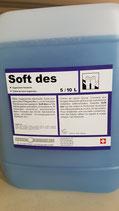 Soft des 1 l  in Nachfüllflasche mit Deckel. Hygienische Handseife mit desinfizierender Wirkung