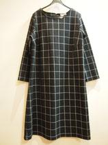 【SALE】八分袖ワンピース(130−238BL)