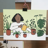 Postkarte - Jana Polak - Plantlady I