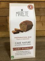 Préparation Bio pour cake nature au sucre de canne intégral - Marlette - 315g