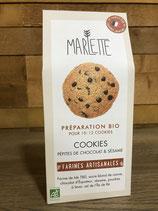 Préparation Bio pour cookies chocolat et sésame - Marlette - 320g