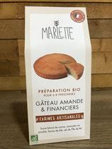 Préparation Bio pour Gâteau amande & Financiers - Marlette - 250g
