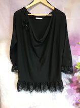 Aus Strickkleid wird Pulli Gr. XL schwarz