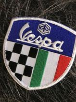 Vespa Aufnäher Wappen mit ITA und Zielflagge