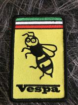 Vespa Aufnäher recheck gelb mit Wespe