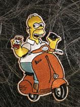 Vespa Aufnäher Homer