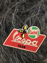 Vespa Aufnäher rot Castrol Vespa CLub