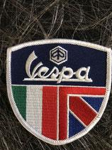Vespa Aufnäher Wappen Vespa mit ENG und ITA