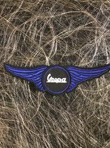 Vespa Aufnäher Vespa Flügel blau