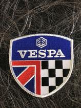 Vespa Aufnäher Wappen Vespa mit ENG unf Zielflagge