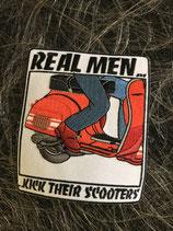 Scooter Aufnäher Real Men
