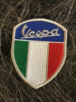 Vespa Aufnäher Vespa Wappen mit ITA und Zielflagge