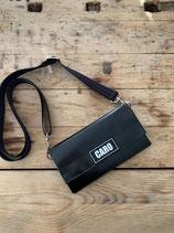 Upcycling Minihandtasche- Geldbörse 2 in 1 black