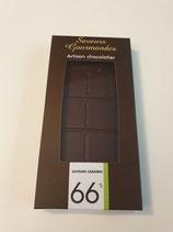 Tablette de chocolat noir caraïbe 66%.