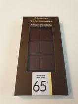 Tablette de chocolat noir 65% sans sucre