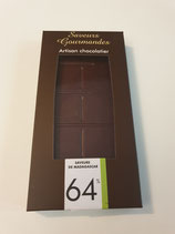 tablette de chocolat noir de Madagascar 64%