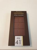 Tablette de chocolat lait 41% sans sucre