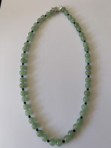 Collier perles Aventurine et Onyx