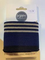 Bündchen Poppy dunkelblau. gold Oeko-Tex