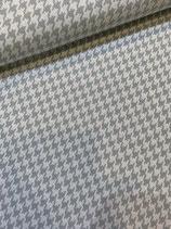 Bio-Kuscheljacquard Hahnentritt grau-weiss, Stoffonkel