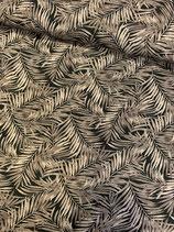 Viscose - Print Blätter, braun, Oeko-Tex