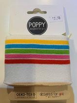 Bündchen Poppy weiss-farbig gestreift Keko-Tex