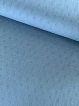Baumwolle-Pointoille blau, Oerko-Tex