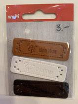 Labels  3-teilig schwarz, weiss, braun
