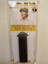 Kantenband T20, 2cm breit schwarz