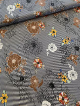 Baumwolle Streifen und Blumen
